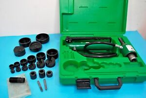 Greenlee Tools 7306sb Hydraulic Knockout Punch Driver Set Conduit 1 2 3 Extras