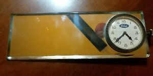 Model T Model A Rear View Mirror Vintage Auto Part With Clock