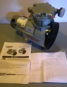 Gast Roa p201 jk Rocking Piston Air Compressor Pump Oil less 24v New