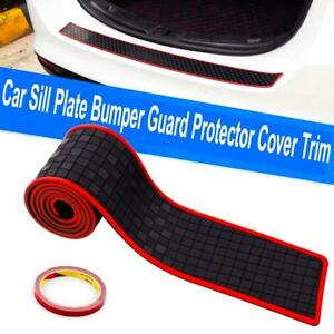 Jdm Black Red Soft Car Suv Rear Bumper Sill Protection Guards Trims Stickers