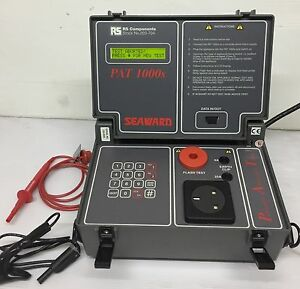 Seaward Rs Components Pat 1000s 203 704 Portable Appliance Tester