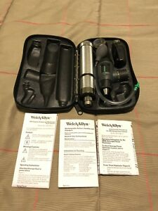 Welch Allyn Diagnostic Set 23810 Macroview Otoscope 11720 Ophthalmoscope