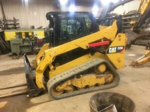 2015 Caterpillar 259d Compact Track Skid Steer Loader W Cab 2 Speed New Tracks