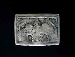 Antique Islamic Silver Snuff Box Ottoman Turkish Hallmarked