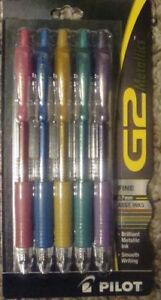 40 Pilot G2 Metallic Hot Bold Assorted Rollerball Pens 0 7mm Wholesale Pricing