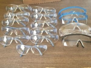 15 Safety Glasses Mixed Lot Of Brands Good Condition