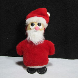 Vintage Antique Santa Clause Hand Made Stuffed Christmas Decoration 8