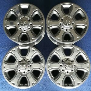Dodge Ram 2500 3500 Hd Polished Oem 20 Wheels Pristine Condition