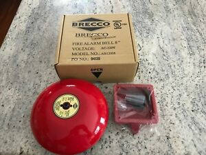 Brecco 8 Inch 120v Fire Alarm Bell Bell Back Box