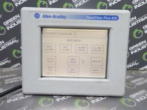 Used Allen Bradley 2711p t6m8a Panelview Plus 600 Operator Interface Series D