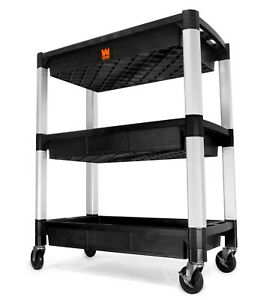 Wen 73163 Three tray 300 pound Capacity Triple Decker Service And Utility Cart