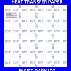 new Iron On Heat Transfer Paper Dark Colors Shirt Idt 50 Sheets Pack