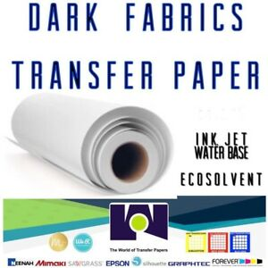 Ink Jet Printable Dark Fabrics Heat Transfer Paper Roll 24 x50