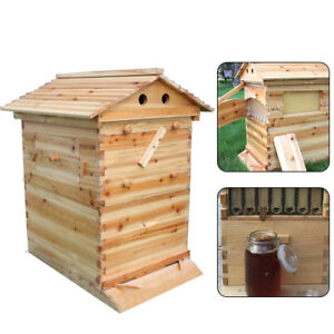Beekeeping Brood Cedarwood Box Bee Wooden House Deluxe Bee Hive Starter Kit Ups