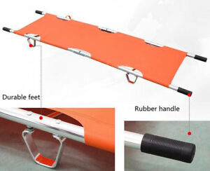Aluminum Alloy Foldable Stretcher Medical home Patient Emergency Stretcher Bed