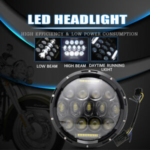 7inch 75w Led Projector Round Motorcycle Headlight Harley Street Glide