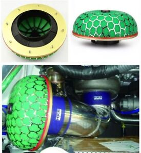 1pcs Hks Power Flow Green Mushroom Air Filter Intake Universal Turbo Induction