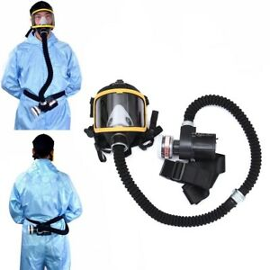 Electric Supplied Air Fed Full Face Gas Mask Constant Flow Respirator System Dev