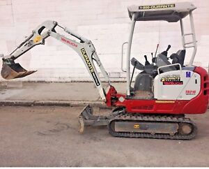 2017 Takeuchi Tb216 Mini Excavator Digger 3 900 Lbs Only 450 Hours Clean