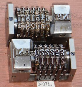 Letterpress Numbering Machines Roberts Lot Of 2