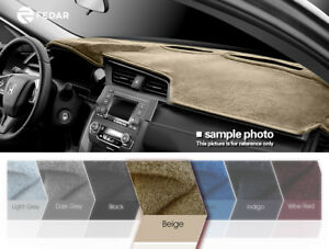 Fits 2009 2014 Jeep Patriot Dashboard Mat Pad Dash Cover Beige