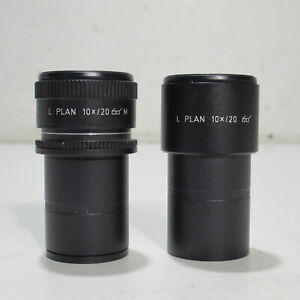 Leica L Plan 10x 20 Microscope Eyepiece Pair 30mm