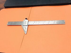 Starrett No 22 59 Degree Drill Point Gage With No 703 Tempered Steel Ruler Usa
