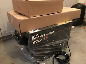 New 230 Volt 130 Amp Wire Feed Welder With Cart Gun Assembly Solar 2175 Usa