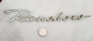 Vintage Ford Ranchero 1960 65 Emblem Chrome Metal