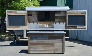 Custom Cold Refrigerated Draft Beer Trailer 6 Taps And Tv