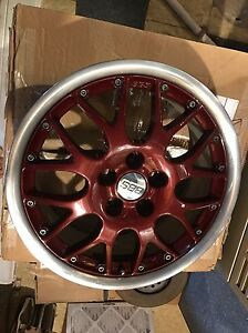 Oem Vw Mk4 16 Bbs Rs771 Rx ii Rims Refinished Red Centers Polished Lips 5x100