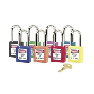 Set Of 8 Masterlock Lockout Tagout Lock Set Osha Compliant 410ast
