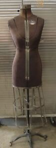 Vintage Acme Dress Form Size A L m Adjustable Victorian Cast Iron Base