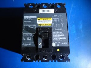 Square D Circuit Breaker 100 Amp 3 Phase Fh100a 240 V X13450307030 New