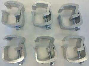 Api 6 Piece Rocker Style Truck Cap Mounting Clamps Ac101