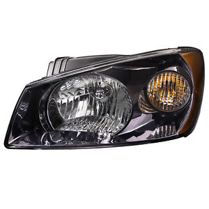 Fits 04 06 Kia Spectra Headlight Headlamp black Housing Left Driver Side