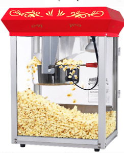 Tabletop Popcorn Popper Electric Countertop Popping Machine Classic Large Glass