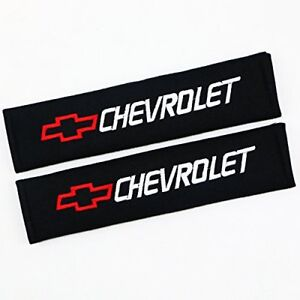 2x New Chevy Cotton Seat Belt Cover Shoulder Pad Cushion For Chevrolet