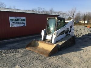 2012 Bobcat T750 Compact Track Skid Steer Loader W Cab 2 Speed Only 2600hrs