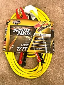 Strong Clamp 12 8 Gauge Battery Booster Jumper Cables 200 Amp 12 Ft Free Gift