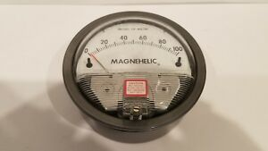 Dwyer Magnehelic Pressure Gauge 0 To 100 In H2o Dwyer Instruments 2100