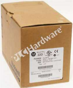 New Sealed Allen Bradley 22d b012n104 a Powerflex 40p Ac Drive 240v 3p 12a 3hp