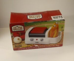 All Star Hot Dog Rotisserie Griller With Bun Warmer New In Original Box