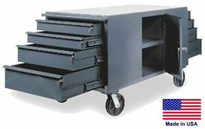 Cabinet Cart Portable Commercial Cabinet 8 Drawers 34h X 60w X 30d