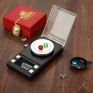 Digital Jewelry Milligram Scale 10g 100g  0.001g Mini Gold Powder Carat Scale