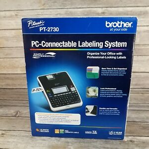 Brother P touch Pt 2730 Label Maker System In Box Includes 1 Tape