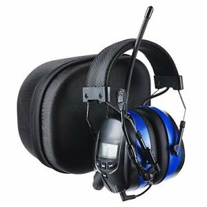 Protear Bluetooth Hearing Protector Earmuffs Mp3 am fm Radio With Boom Microphon
