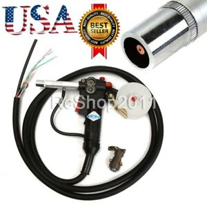 Nbc 200a Spool Gun Gas Push Pull Aluminum Shielded Welding Torch 3m Lead Cable