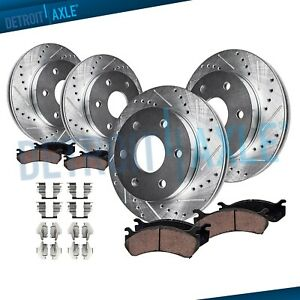 Fit 2003 2008 2009 4runner Gx47 Front Rear Drill Brake Rotors Ceramic Pads