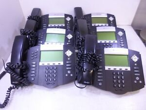 Lot Of 6 Polycom Ip650 Sip Soundpoint 2201 12330 001 Ip Phone W Handset T6 a9